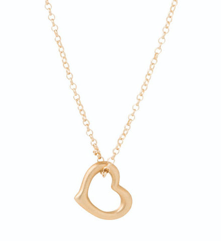 "Enewton Design 16"" Necklace with Love Gold Charm Necklaces in  at Wrapsody"