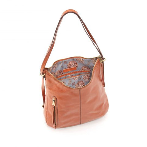Hobo Merrin Leather Shoulder Bag- Clay