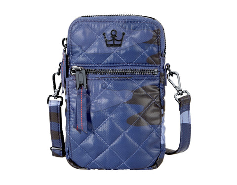 Oliver Thomas 24 + 7 Cell Phone Crossbody Bag in multiple colors Handbags in Blue Camo at Wrapsody