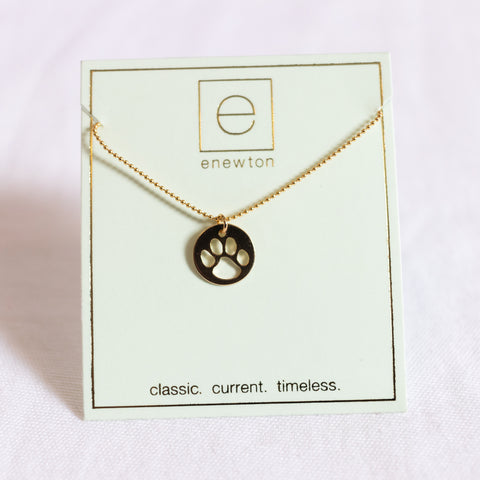 Enewton Design Classic Gold Necklace with Paw Charm Necklaces in  at Wrapsody