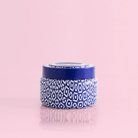 Capri Blue Blue Jean Printed Travel Tin 8.5 oz Candles in  at Wrapsody