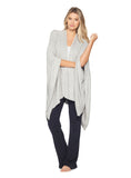 Barefoot Dreams CozyChic Lite Weekend Wrap Sweaters in Pewter-Pearl at Wrapsody