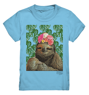 Frida Faultier Kinder T-Shirt Kids Premium Shirt - SLOTH & friends