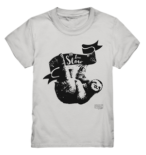 Live Slow Faultier Kinder T-Shirt Kids Premium Shirt - SLOTH & friends