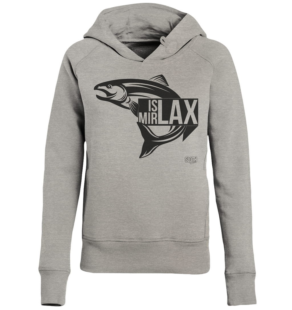 Is mir Lax - Frauen Hoodie Ladies Organic Hoodie - SLOTH & friends