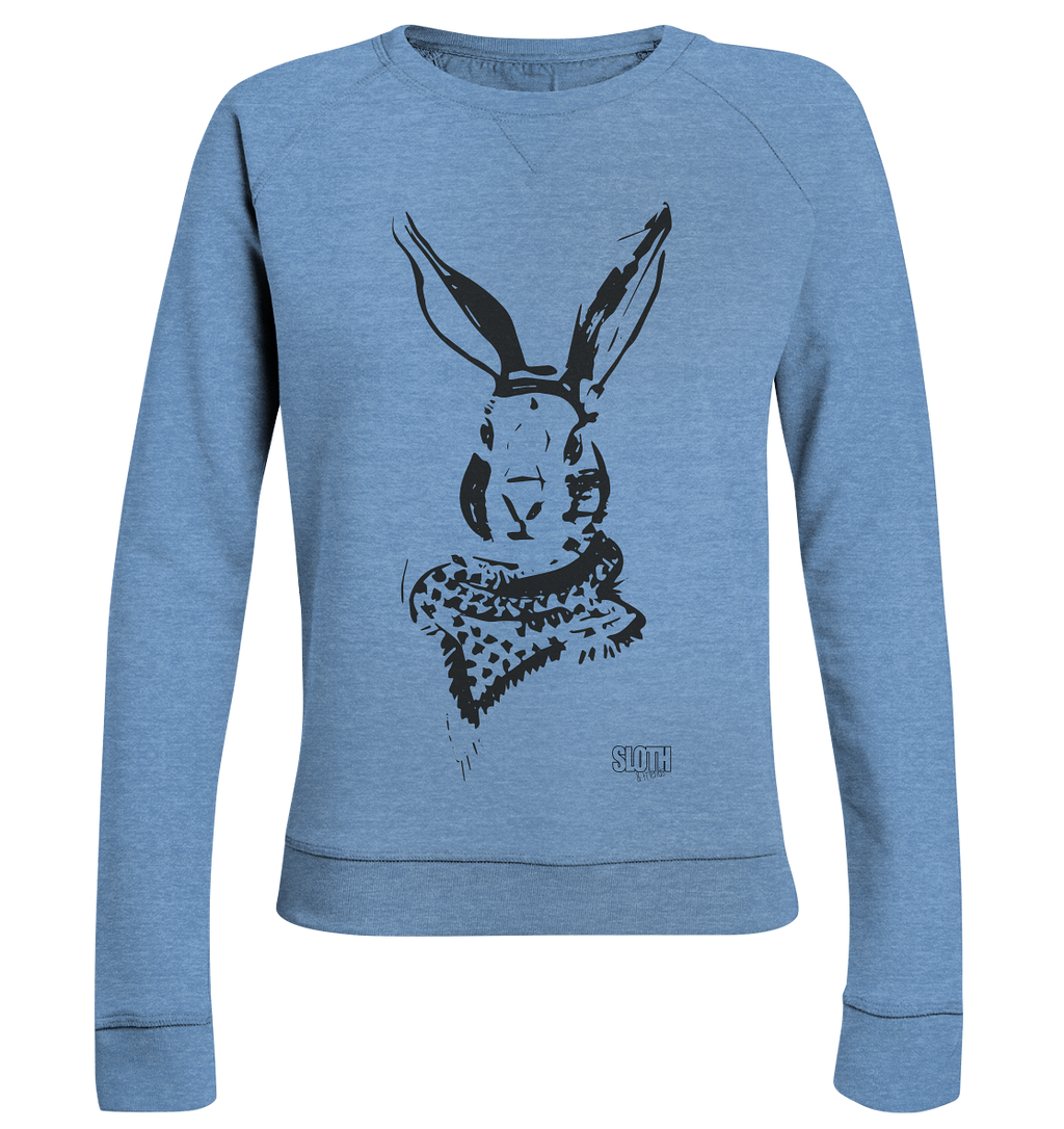 Hase mit Halstuch Frauen Pullover Ladies Organic Sweatshirt - SLOTH & friends