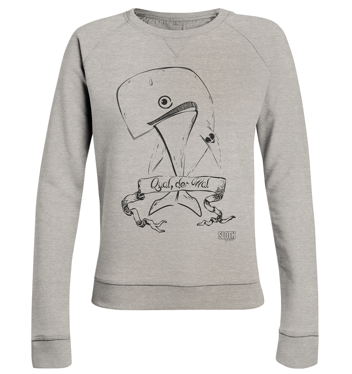 Qual der Wal Frauen Pullover Ladies Organic Sweatshirt - SLOTH & friends