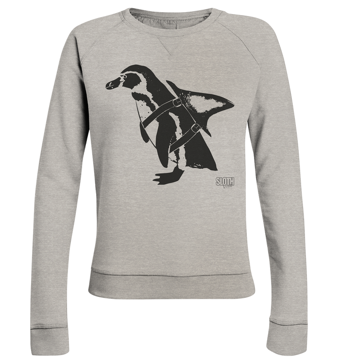 PinguHai - Frauen Pullover Ladies Organic Sweatshirt - SLOTH & friends