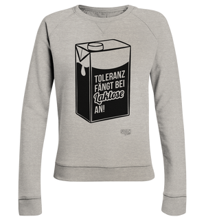 Laktose Toleranz Frauen Pullover Ladies Organic Sweatshirt - SLOTH & friends