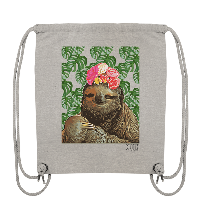 Frida Faultier Turnbeutel Organic Gym-Bag - SLOTH & friends