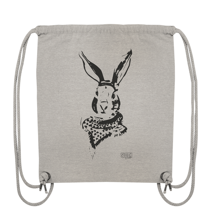 Hase mit Halstuch Turnbeutel Organic Gym-Bag - SLOTH & friends
