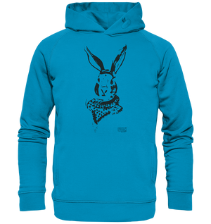 Hase mit Halstuch Männer Hoodie Organic Hooded Sweat - SLOTH & friends