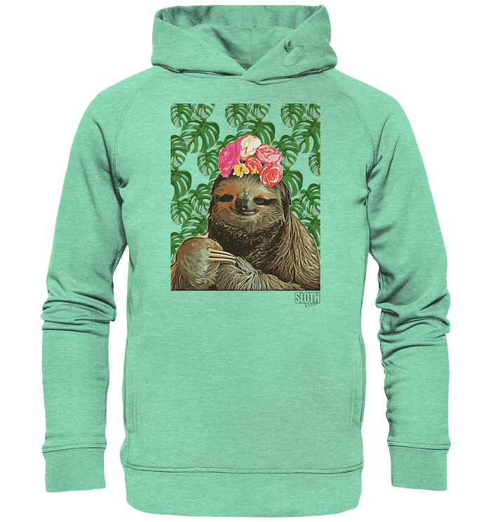 Frida Faultier Männer Hoodie Organic Hooded Sweat - SLOTH & friends