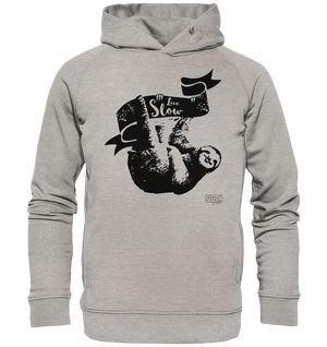 Live Slow Faultier Männer Hoodie Organic Hooded Sweat