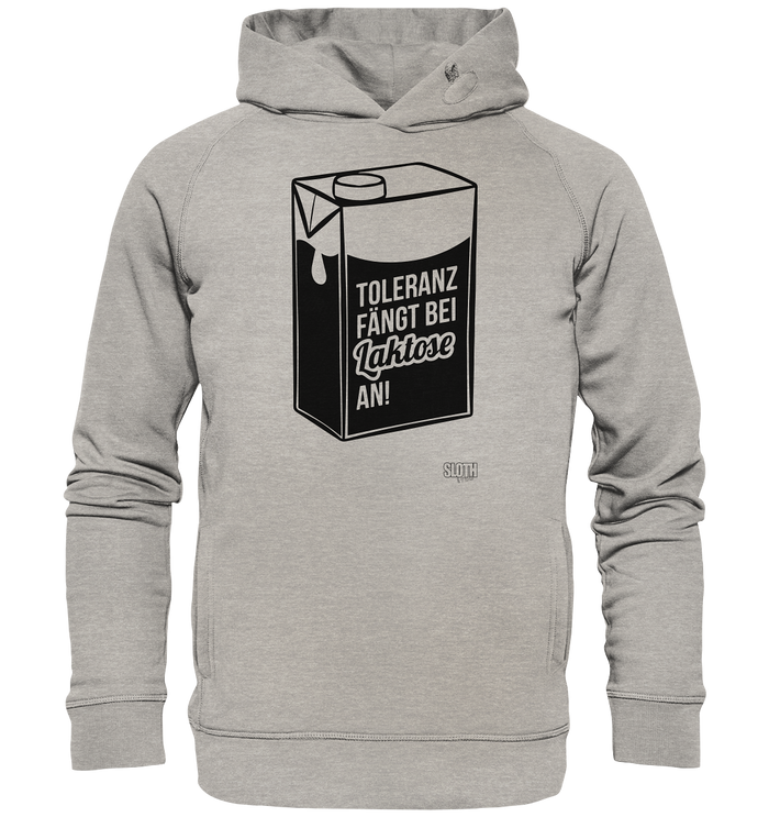 Laktose Toleranz Männer Hoodie Organic Hooded Sweat - SLOTH & friends