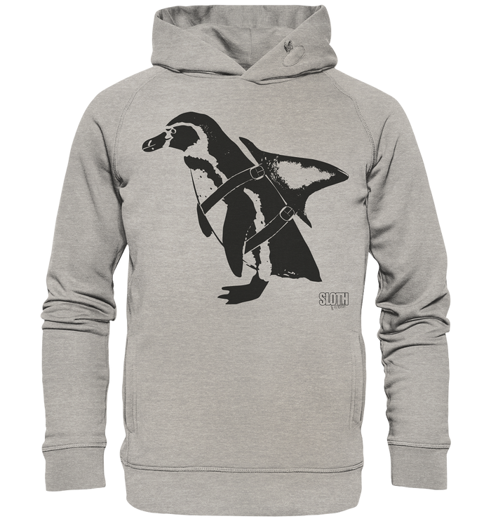 PinguHai - Männer Hoodie Organic Hooded Sweat - SLOTH & friends