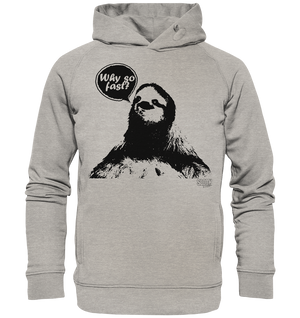 Why so fast? Männer Hoodie Organic Hooded Sweat - SLOTH & friends