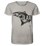 Is mir Lax - Männer T-Shirt Organic Shirt (meliert) - SLOTH & friends
