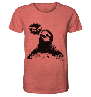 Why so fast? Männer T-Shirt Organic Shirt (meliert) - SLOTH & friends