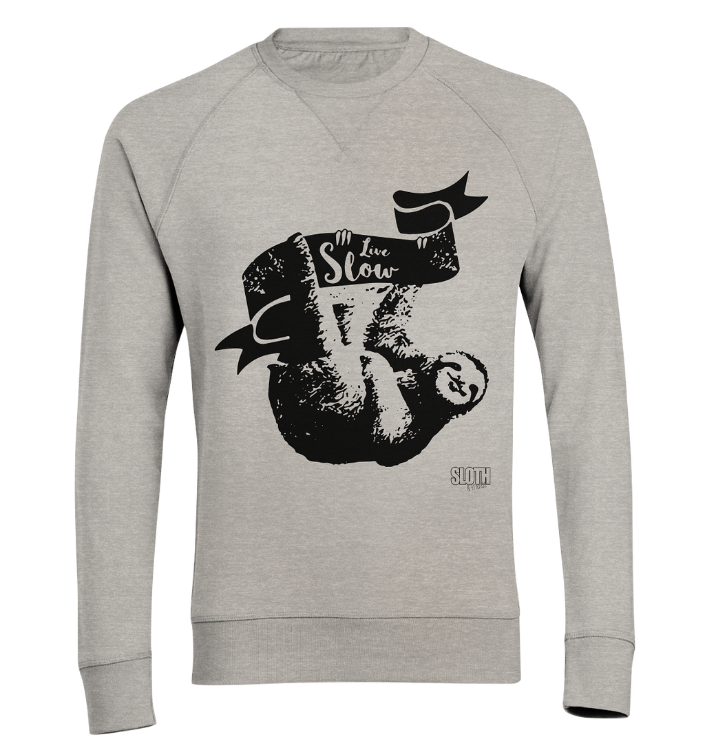 Live Slow Faultier Männer Pullover Organic Sweatshirt - SLOTH & friends