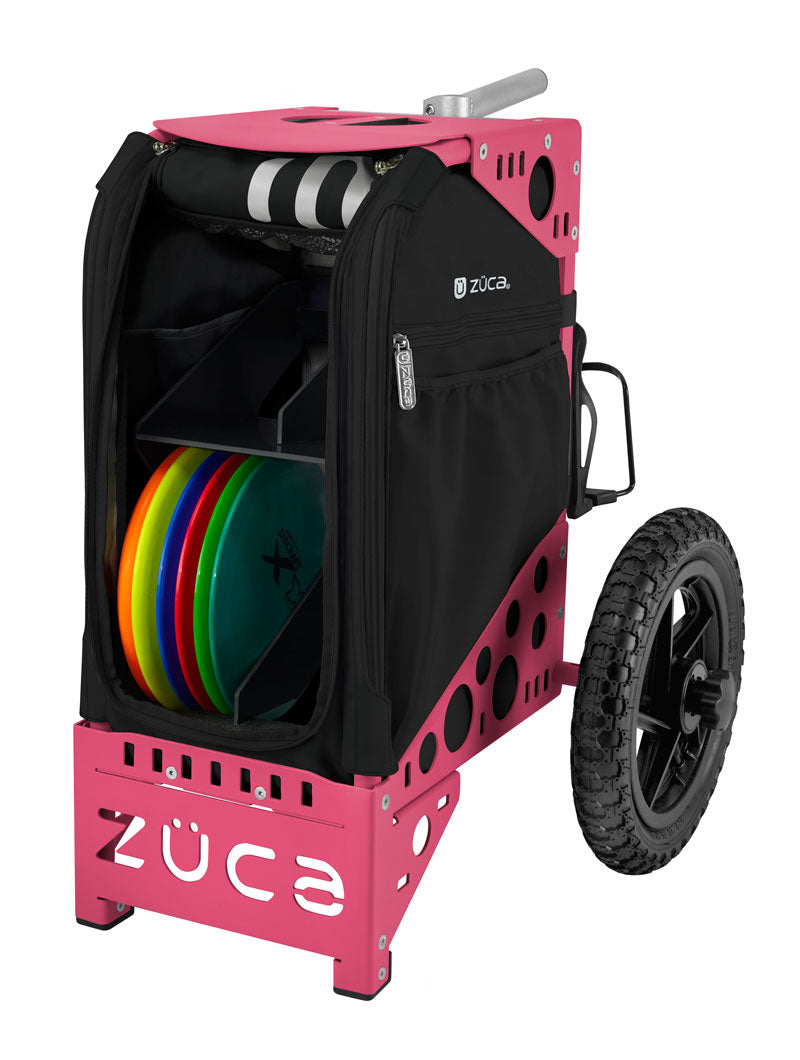 Disc Golf Cart - Onyx/Pink