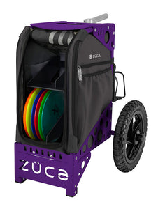 Disc Gold Cart - Gunmetal/Purple