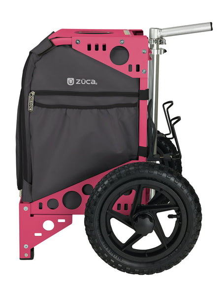 Disc Golf Cart - Gunmetal/Pink