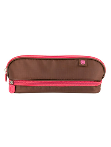 Pencil Case - Brown/Pink