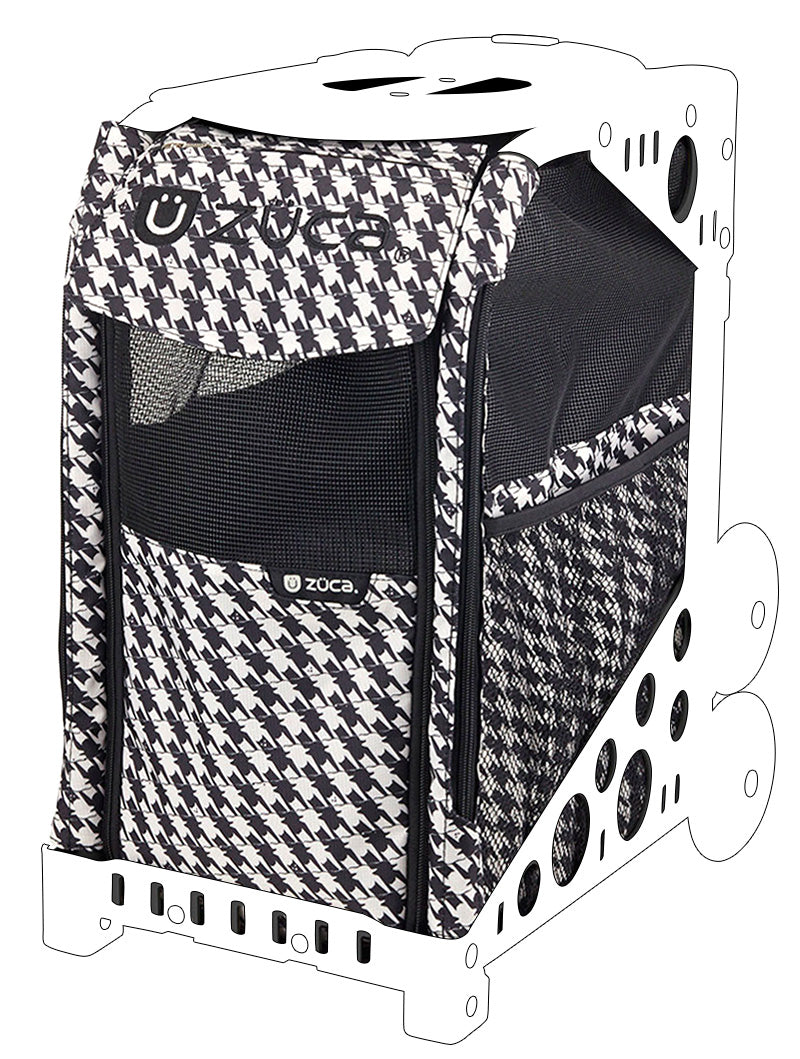 Pet Insert - Houndstooth Black