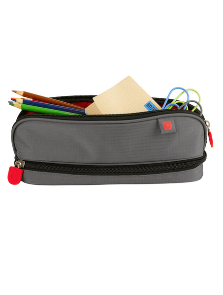Pencil Case - Grey/Red