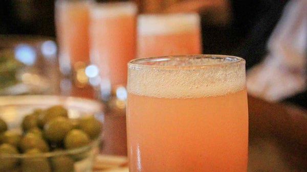 Bellinis lined up at Harry's Bar in Venice