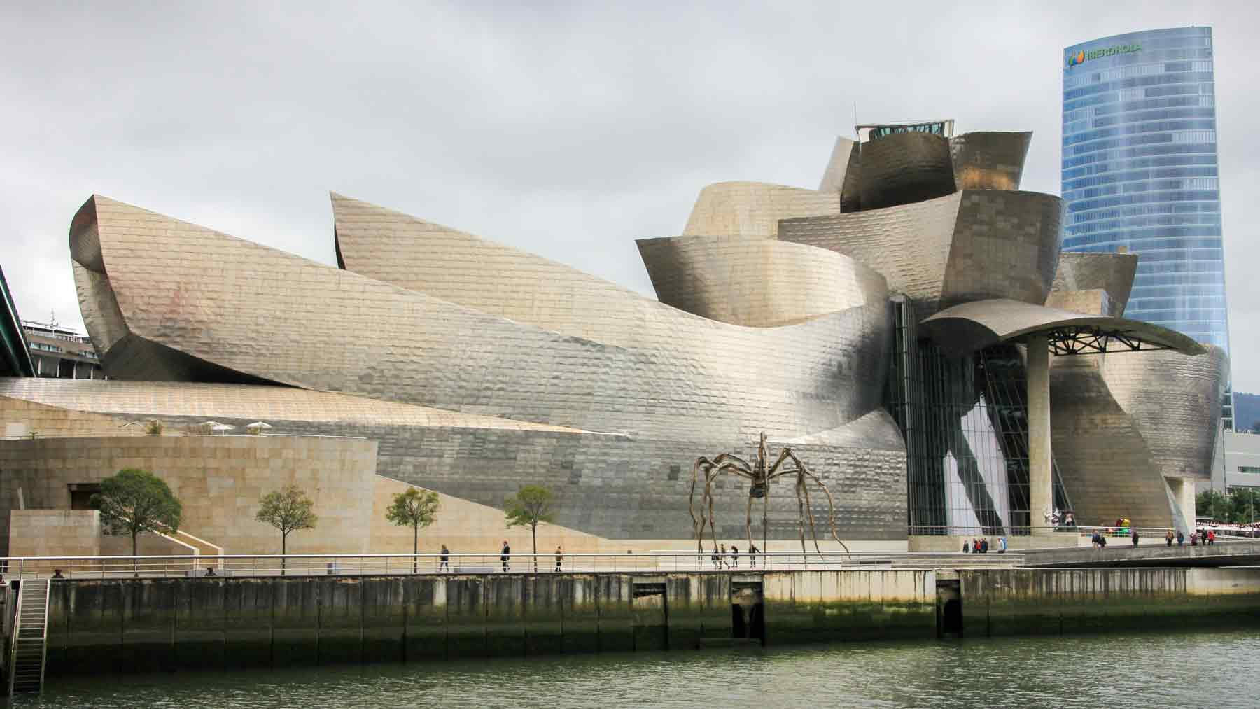 Guggenheim Bilbao from across the river