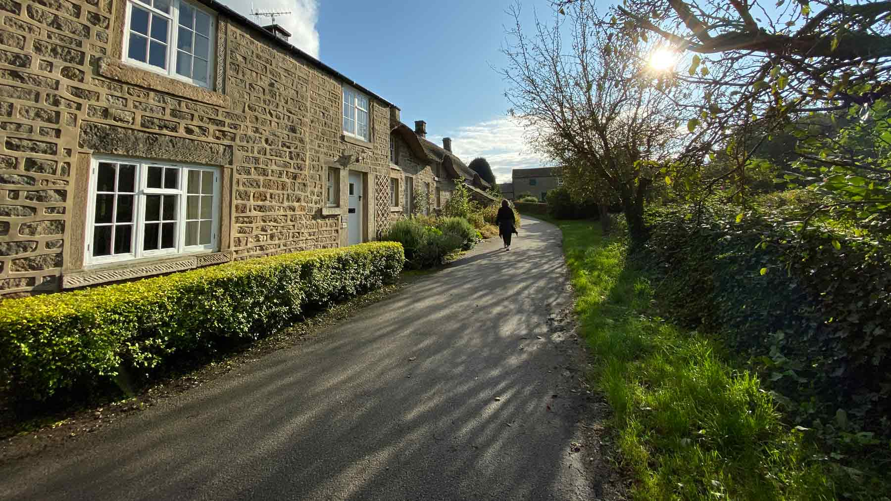 Stone cottages in Baslow, Peak District