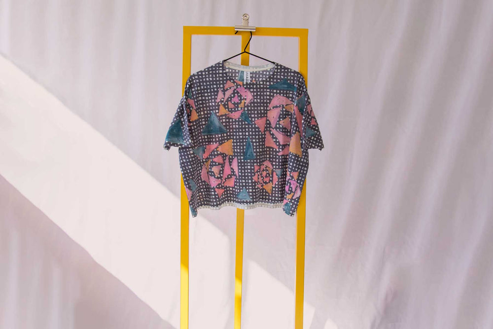Asmuss Limited Edition Painterly Rose Boxy Cropped T-shirt
