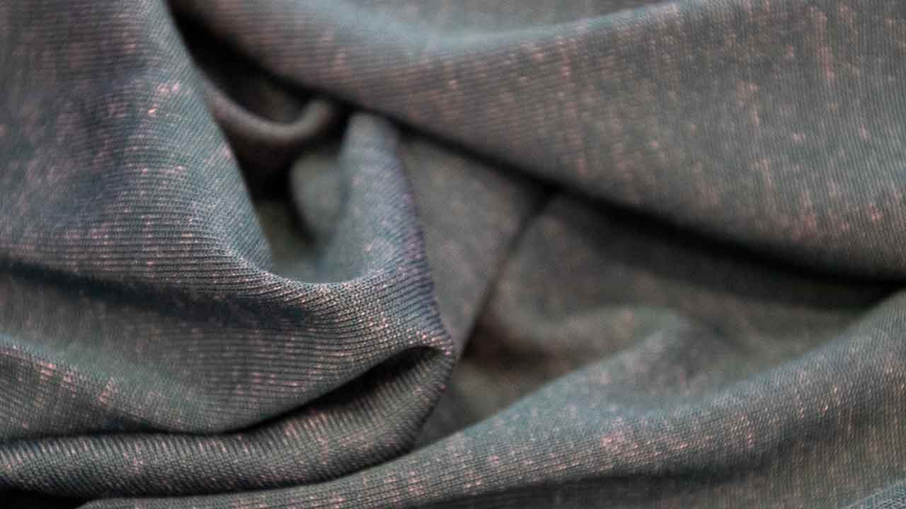 Close up of the Asmuss Recycled and Trees fabric. A blend of recycled polyester and Tencel