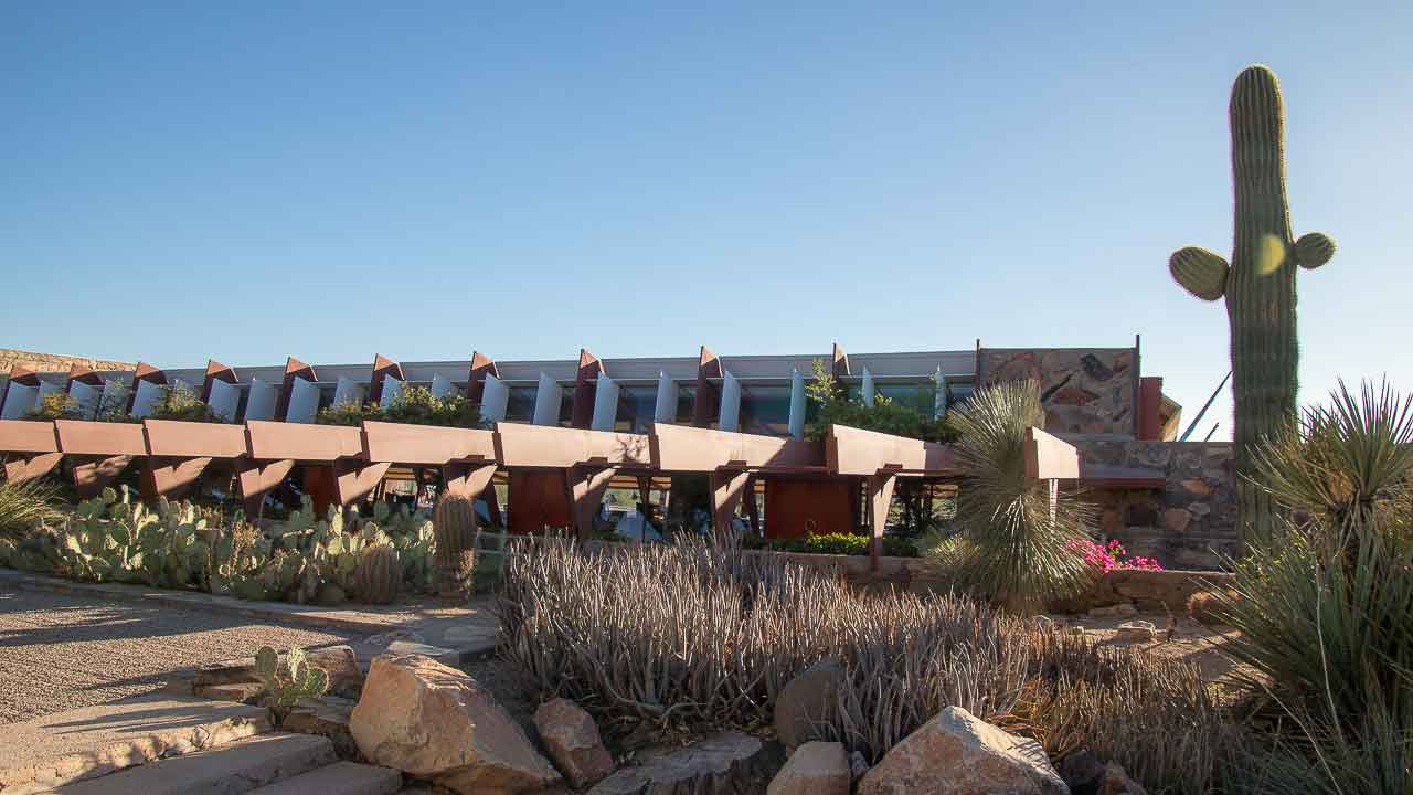 Taliesin West in the late afternoon sun