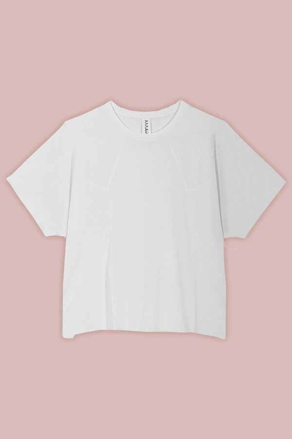 Panelled T-shirt in White