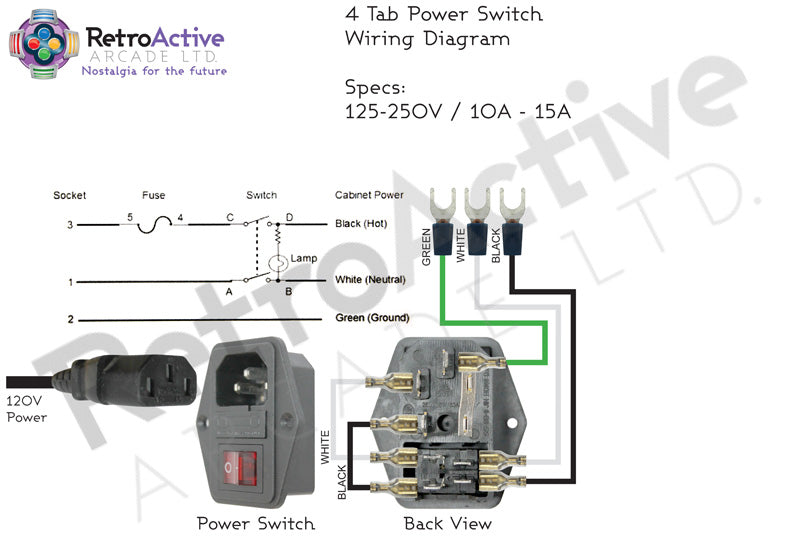 IEC Power Switch Wiring Map