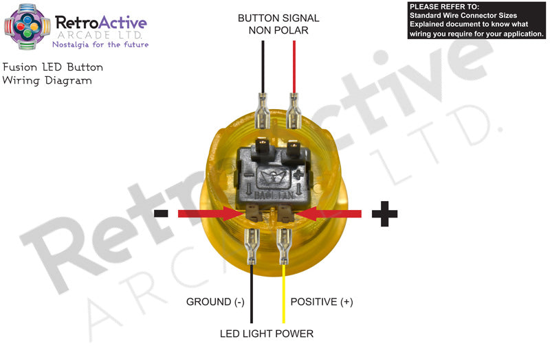 LED Fusion Button Wiring
