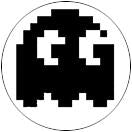 """Pac Man Ghost - 2"" Button Decal"