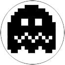 """Pac Man Ghost - 4"" Button Decal"