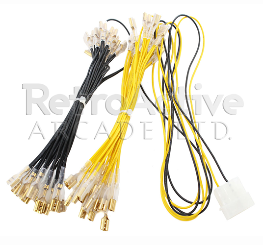 12V LED 32 PIN Wiring Harness .250""