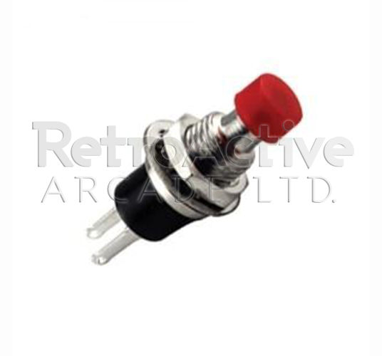 Mini Round Momentary Pushbutton Red
