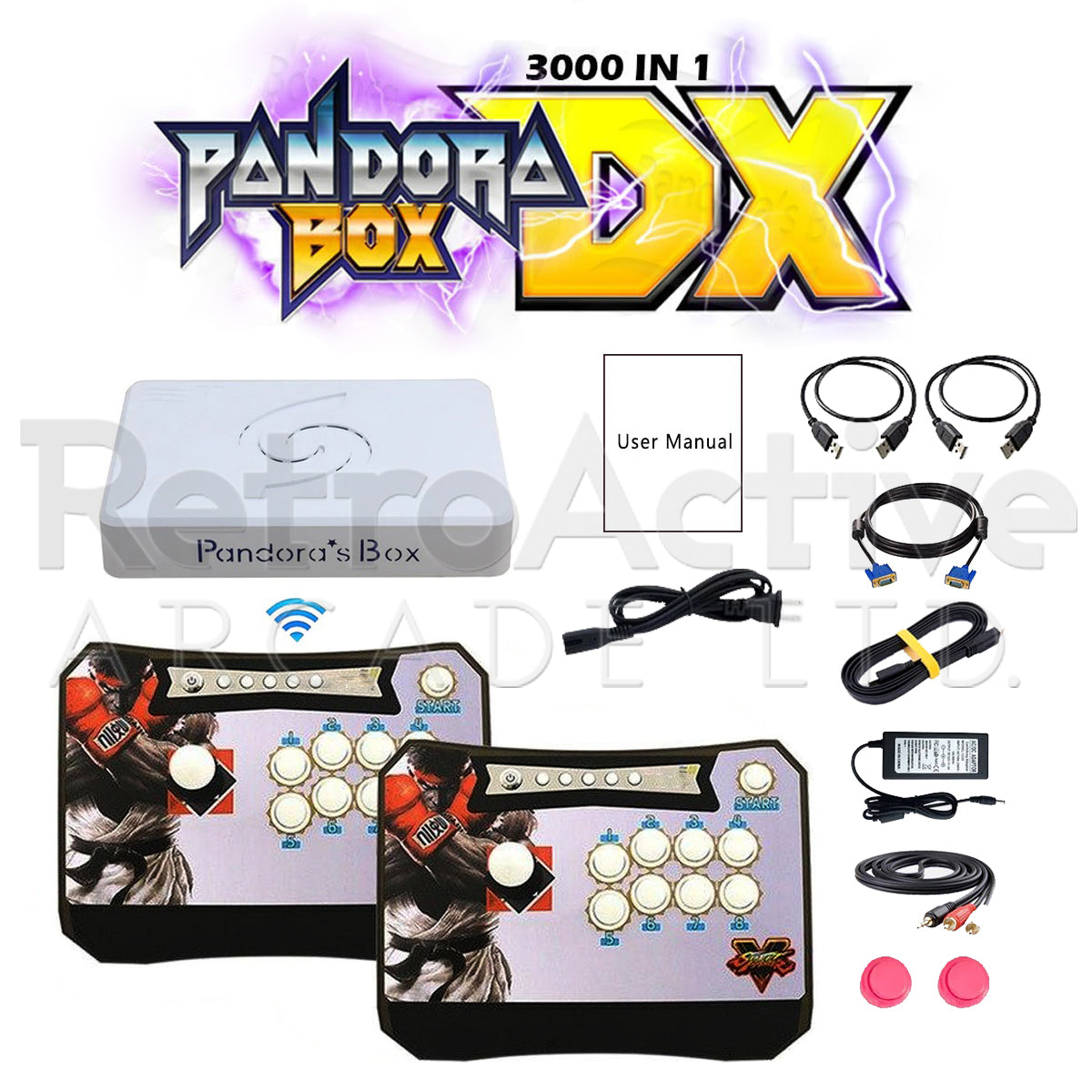 2 Player Pandora Box DX Wireless Game Station (OEM)