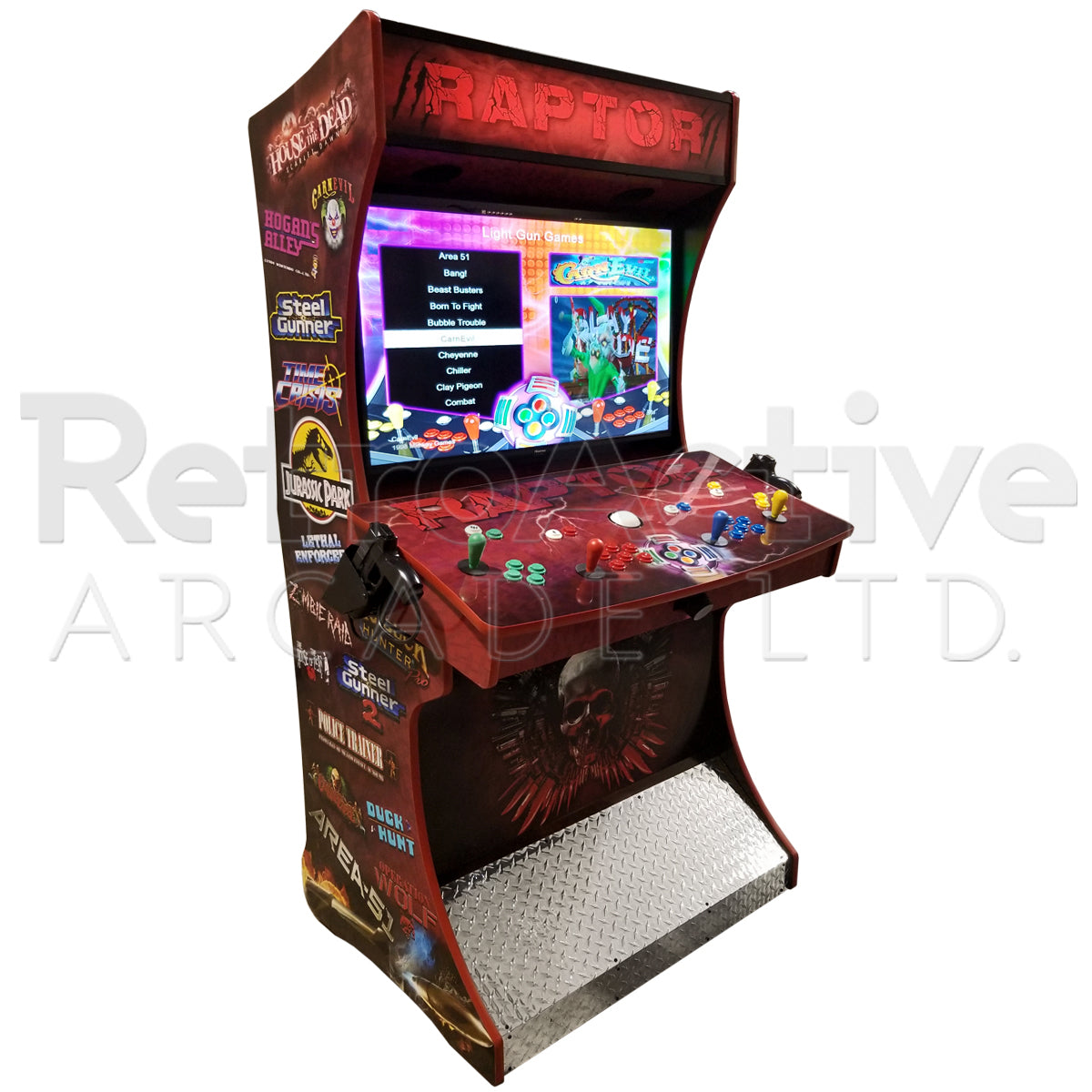 "4 Player ""Raptor"" Signature Series Light Gun Machine"