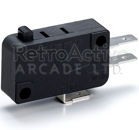 "Zippyy .187"" (4.8mm) Pushbutton Microswitch Pushbuttons Zippyy - Retro Active Arcade"