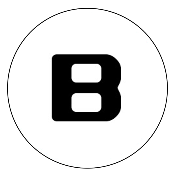 """B"" Letter Button Decal"