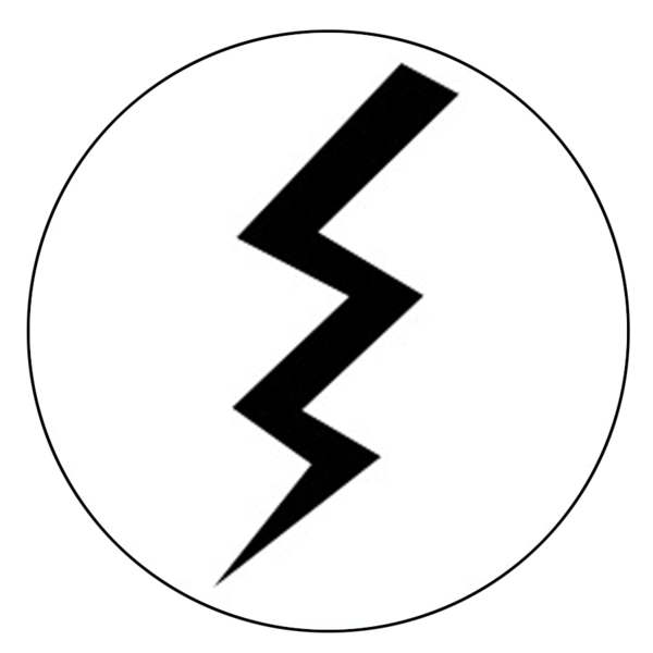 """Lightning"" Button Decals"