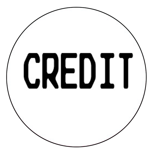"""Credit"" Button Decal"