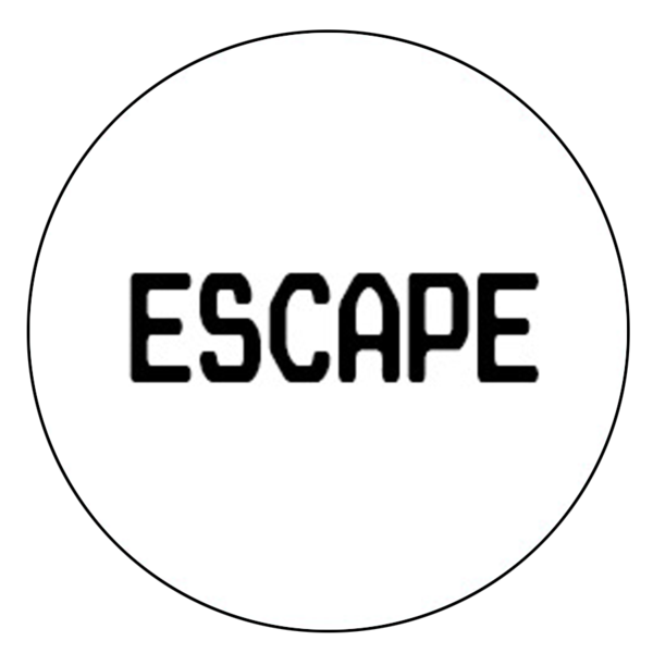 """Escape"" Button Decal"